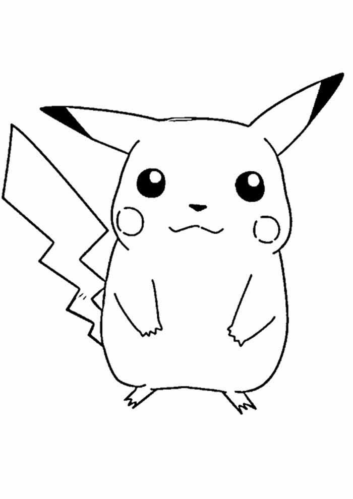 pokémon coloring page pikachu 4