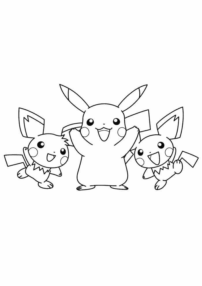 pokémon coloring page pikachu 5