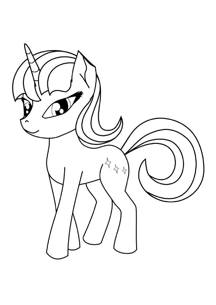 pony unicorn coloring page