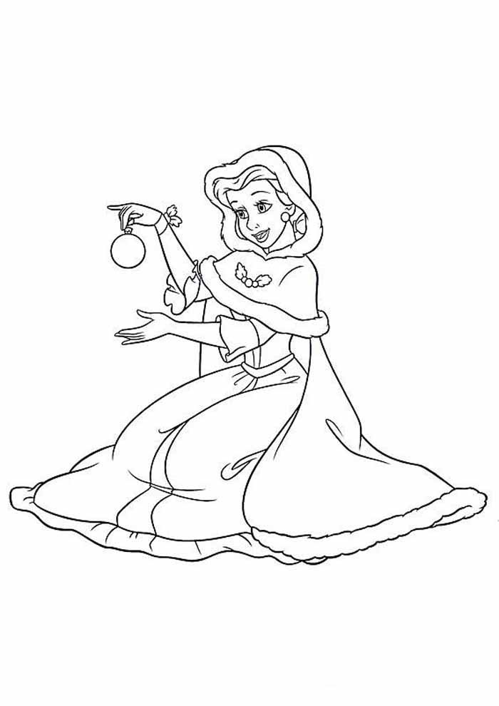 princess coloring page christmas decoration