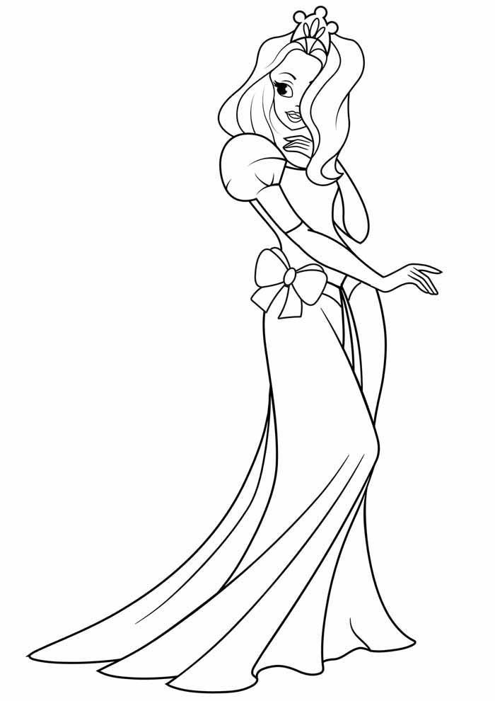 princess coloring page elegant