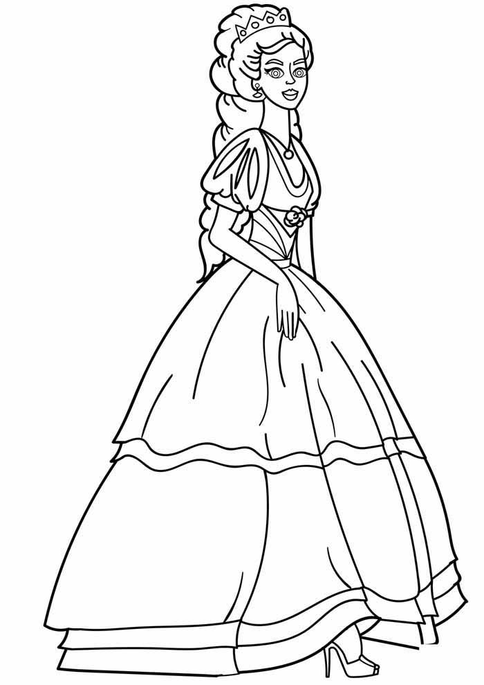 princess coloring page shy