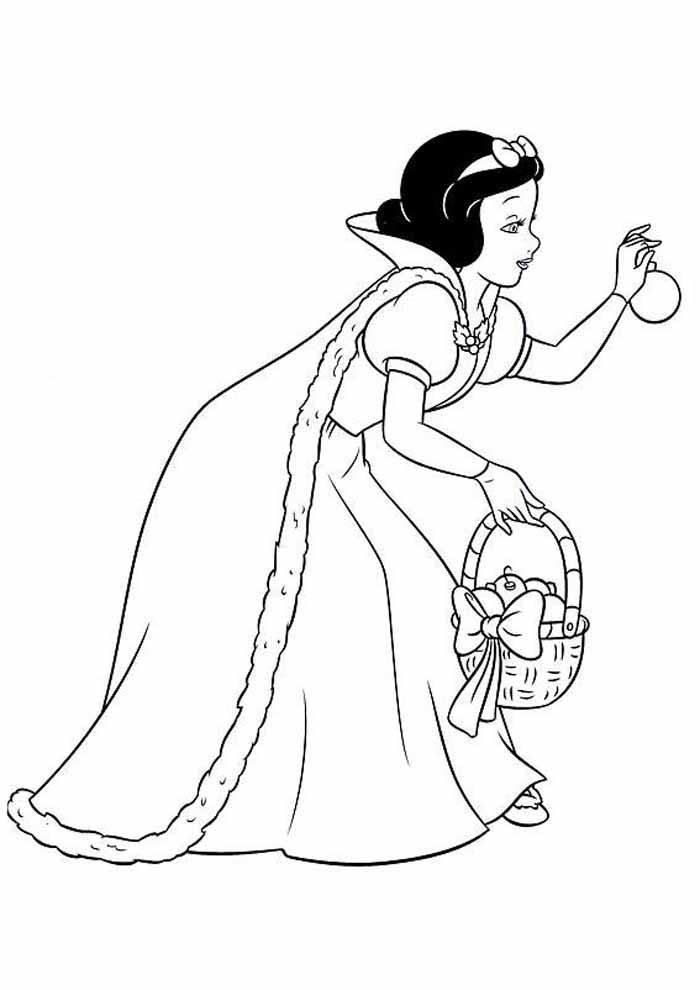 princess coloring page snow white