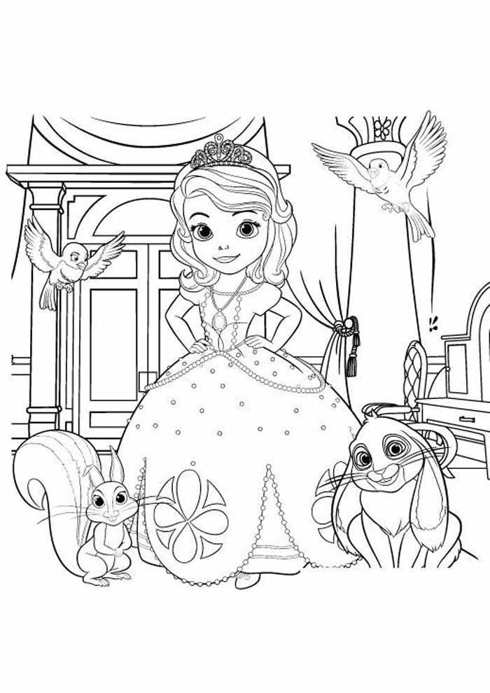 Sofia The First Coloring Pages: Winters Gift - Sofia The First ... | 990x700