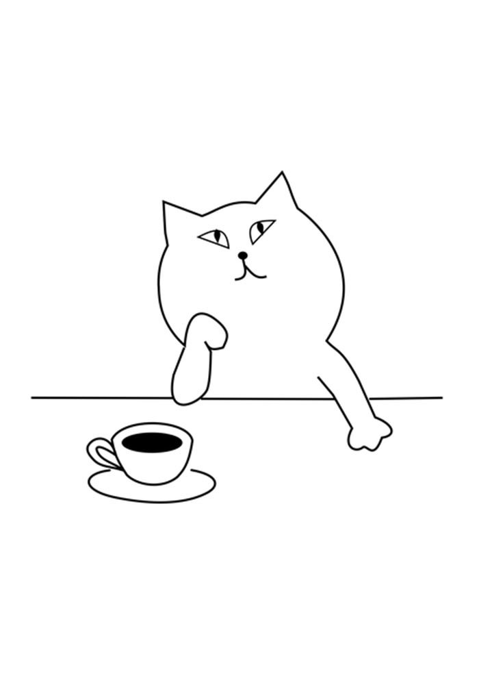printable cat coloring page