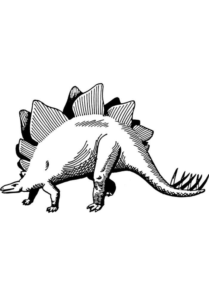 printable dinosaur coloring page