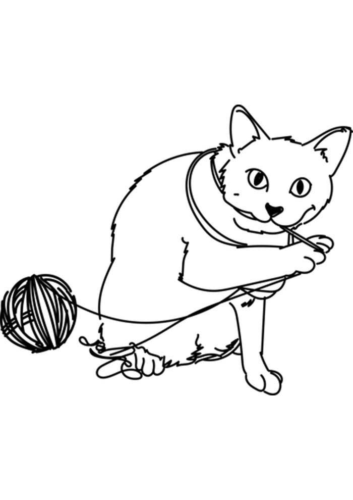 printable kitten coloring page