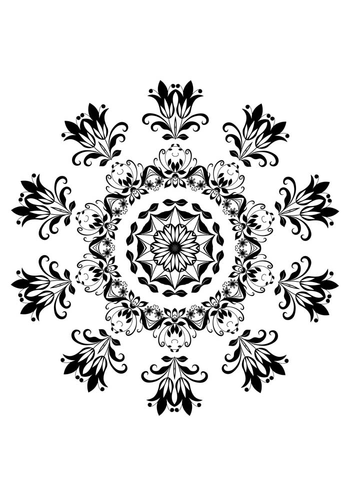 relaxing mandala coloring page