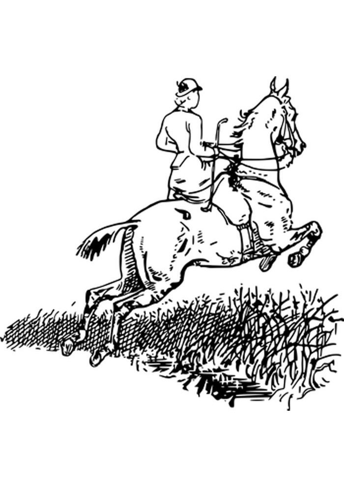 Jumping Horse Coloring Page - Free Coloring Pages Online | 990x700