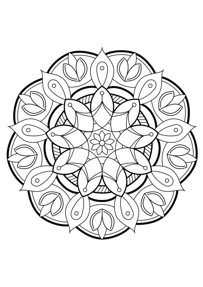 rose mandala coloring page