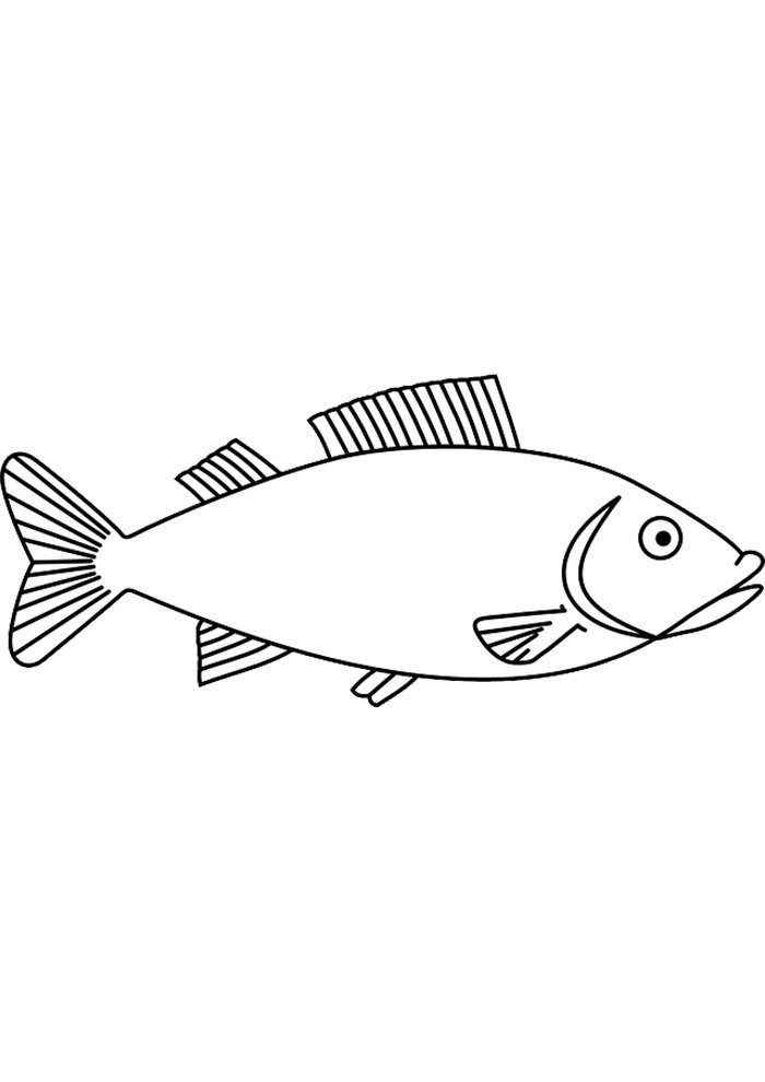 simple fish coloring page