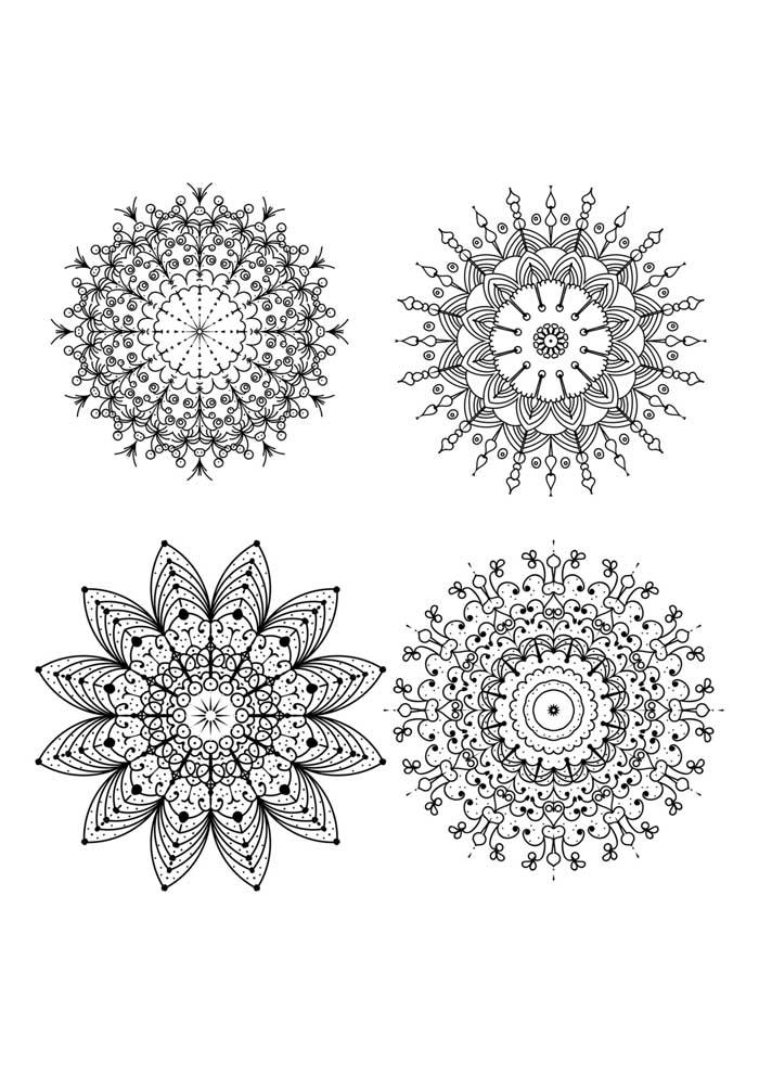 small mandalas coloring page