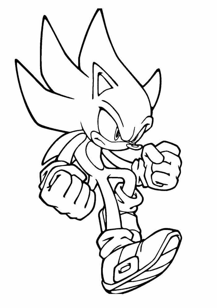 sonic coloring page fighting
