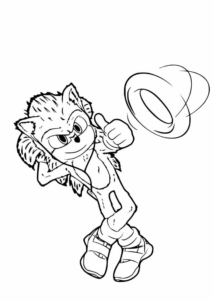sonic coloring page listening to music