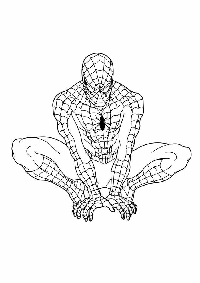 spiderman coloring page 11