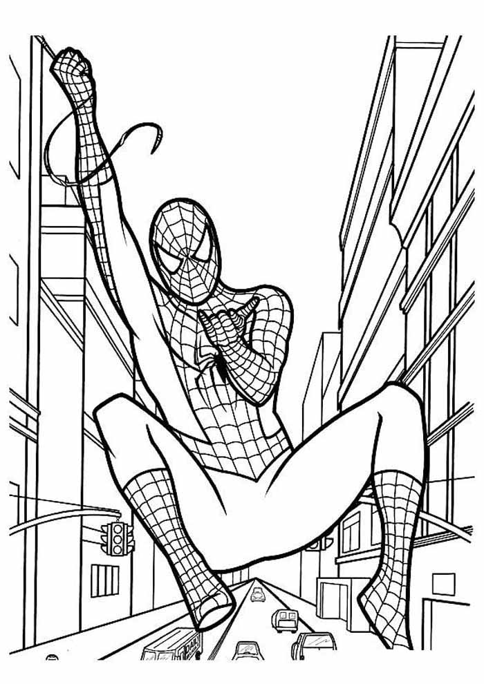 spiderman coloring page 12
