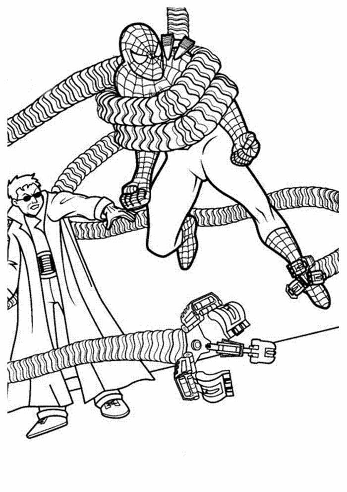 spiderman coloring page 13
