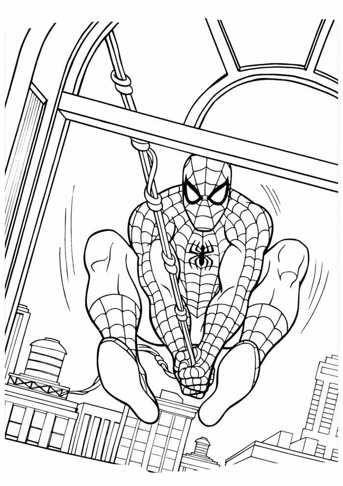 spiderman coloring page 18