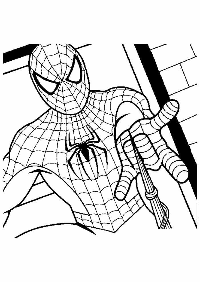 spiderman coloring page 19