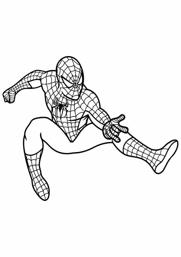 spiderman coloring page 2
