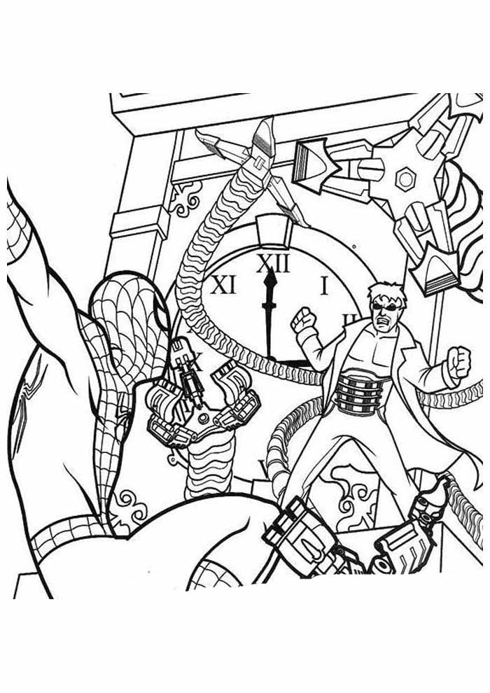 spiderman coloring page 20