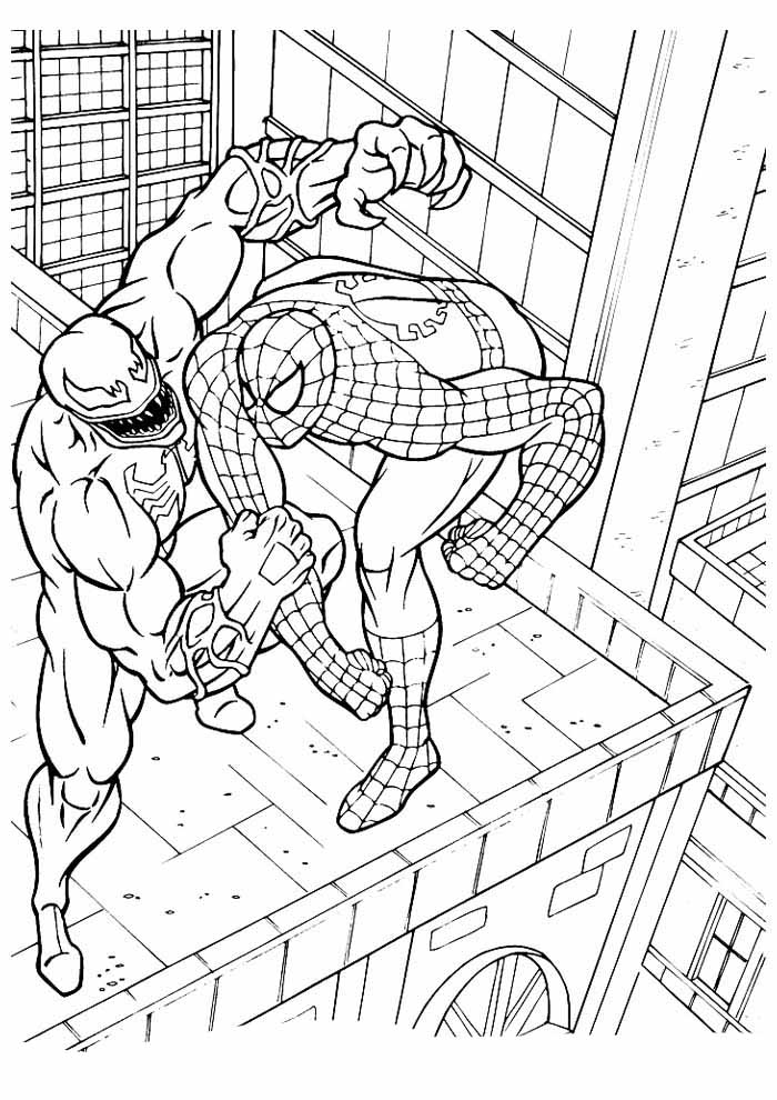 spiderman coloring page 21