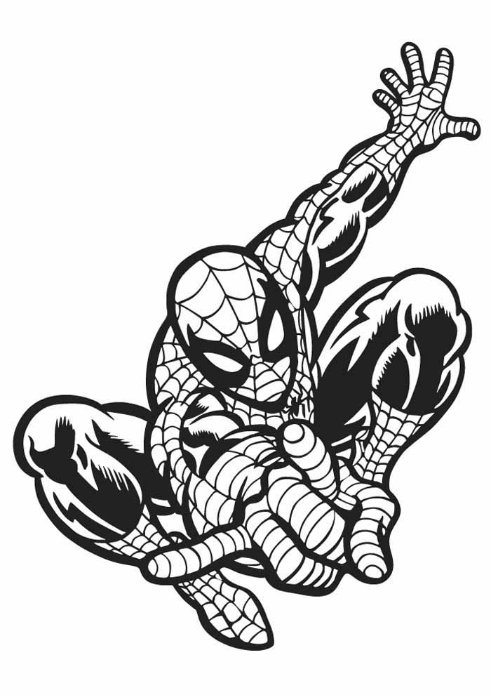 spiderman coloring page 23