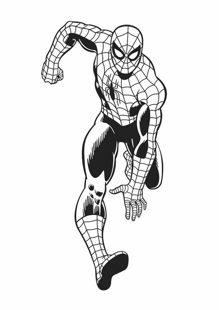 spiderman coloring page 25