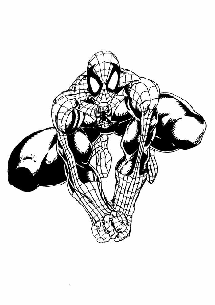 spiderman coloring page 27