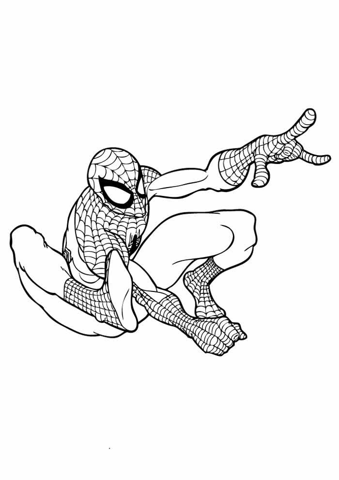 spiderman coloring page 28