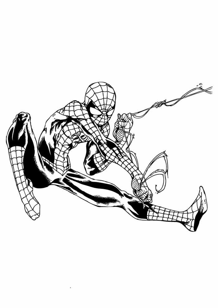 spiderman coloring page 29