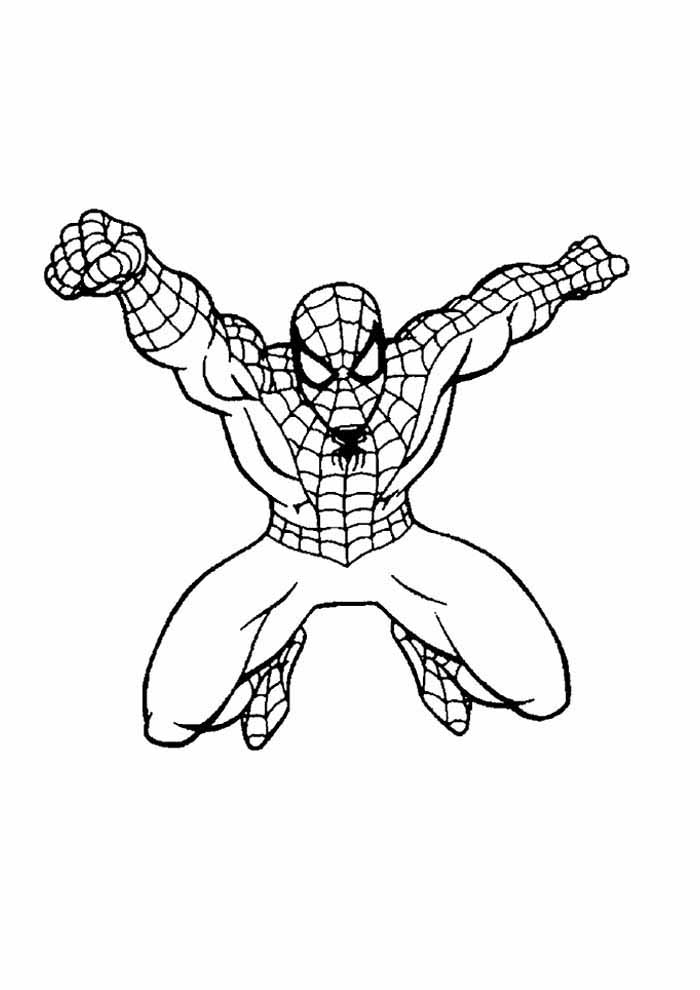 spiderman coloring page 3