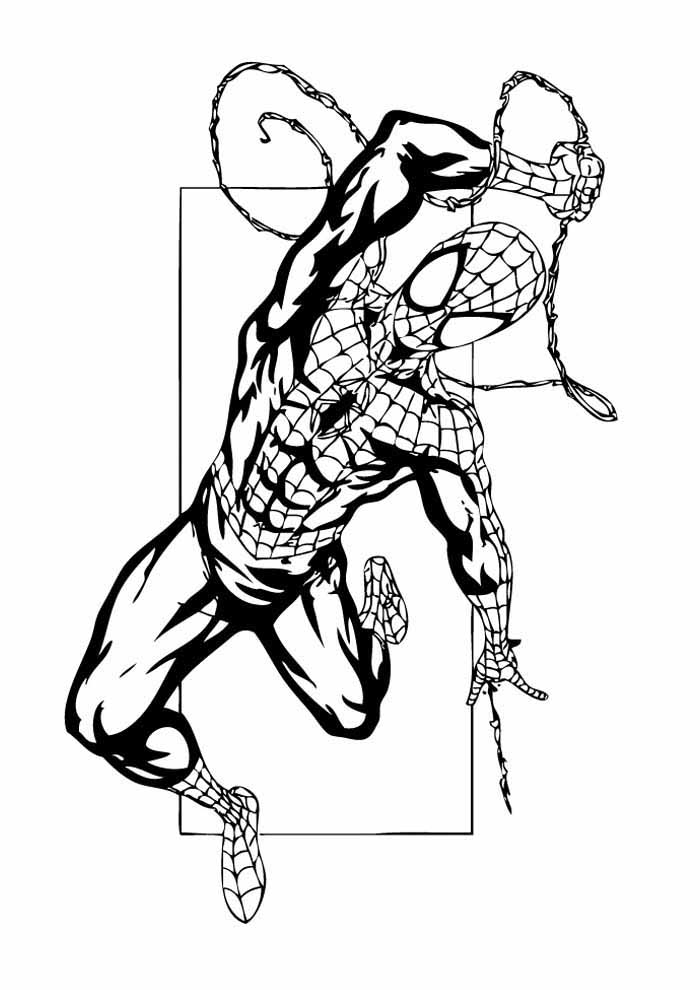 spiderman coloring page 30