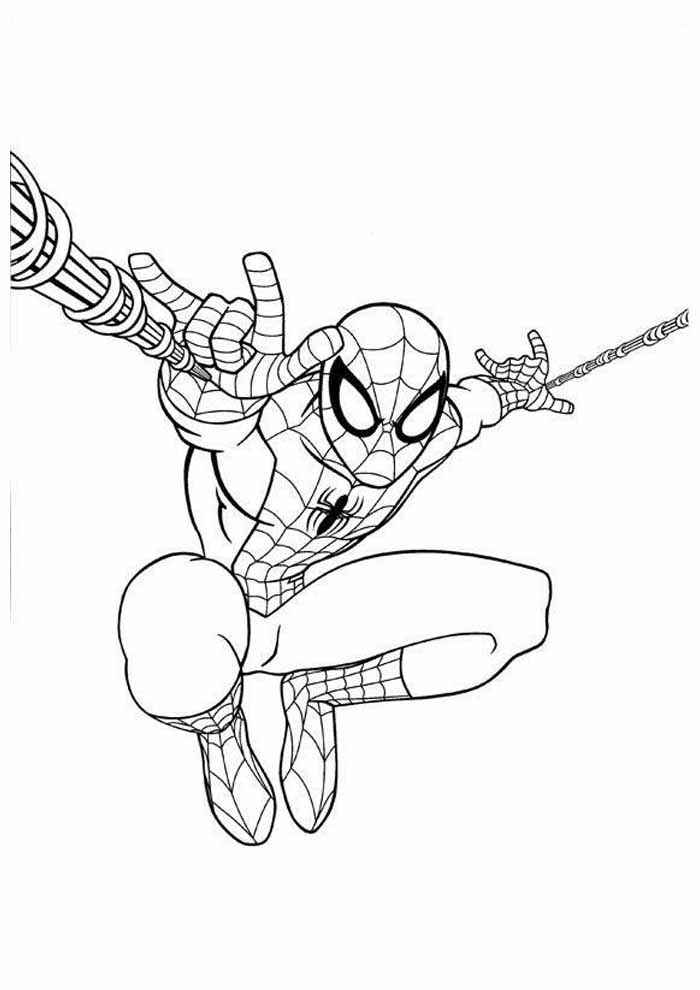 spiderman coloring page 33