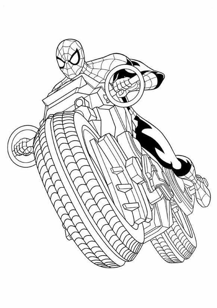 spiderman coloring page 34