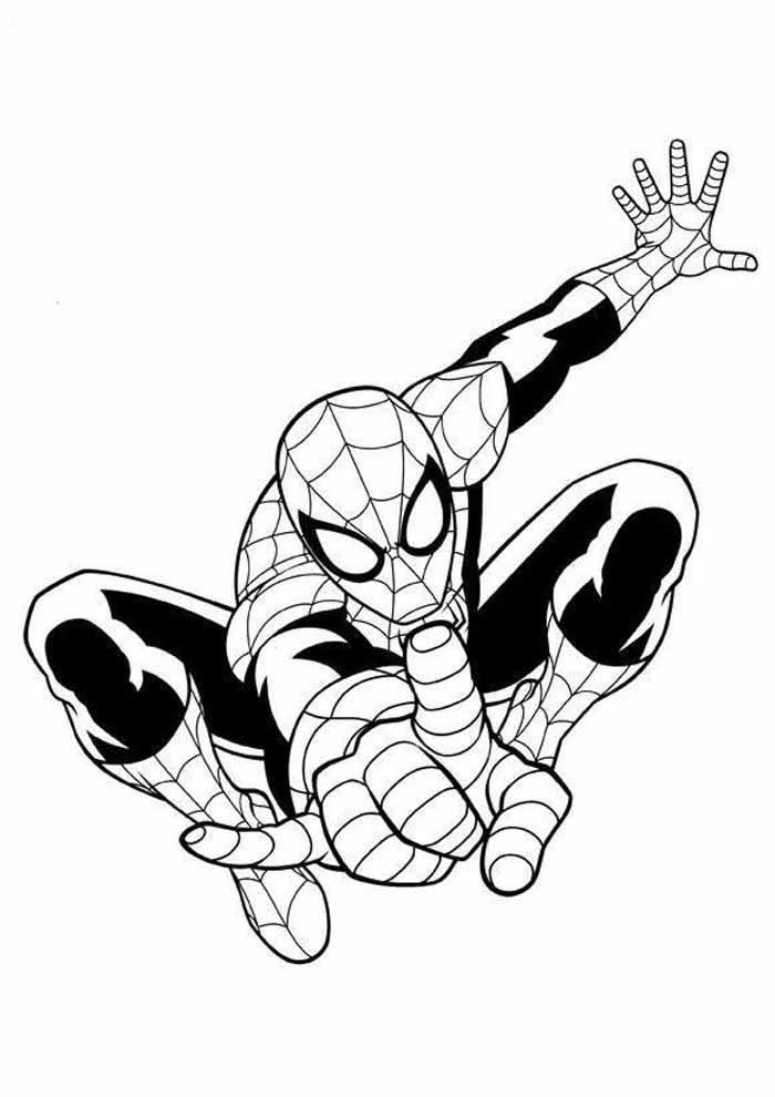 spiderman coloring page 35