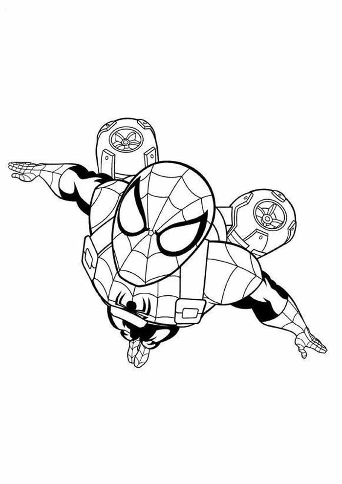 spiderman coloring page 36