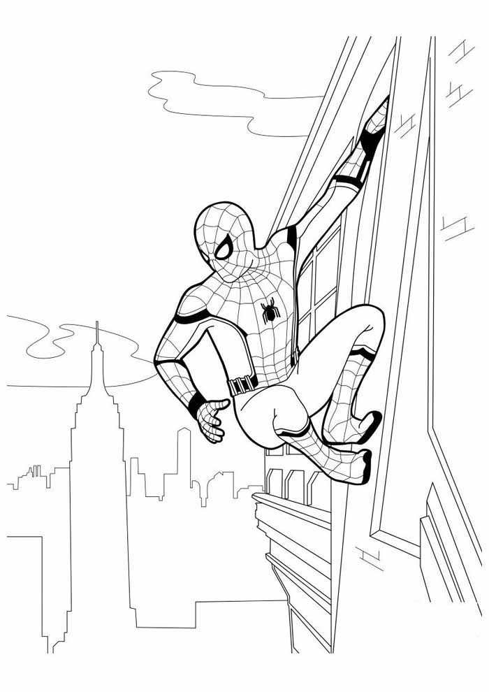 spiderman coloring page 38
