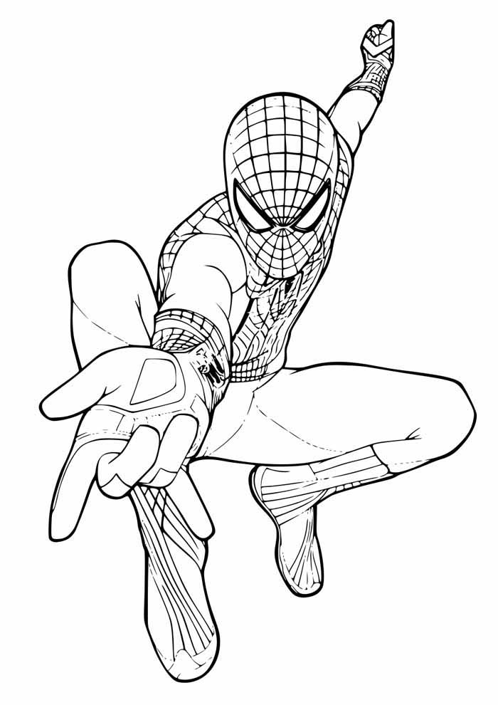 spiderman coloring page 45