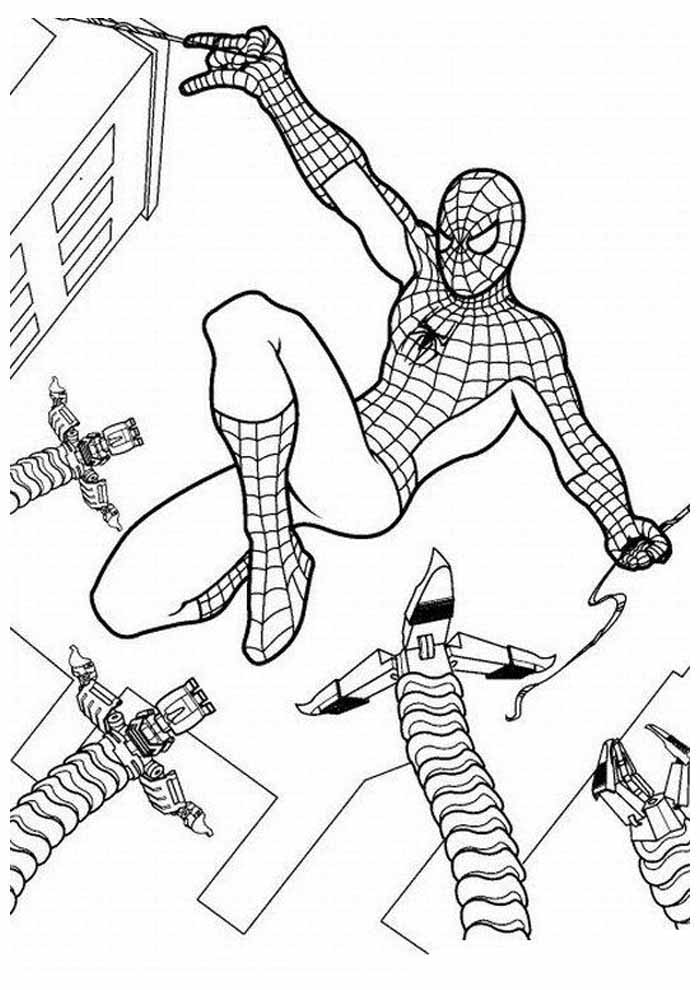 spiderman coloring page 6