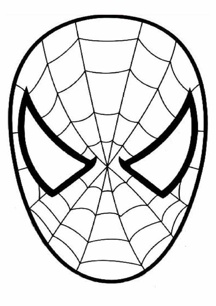 spiderman coloring pages mask