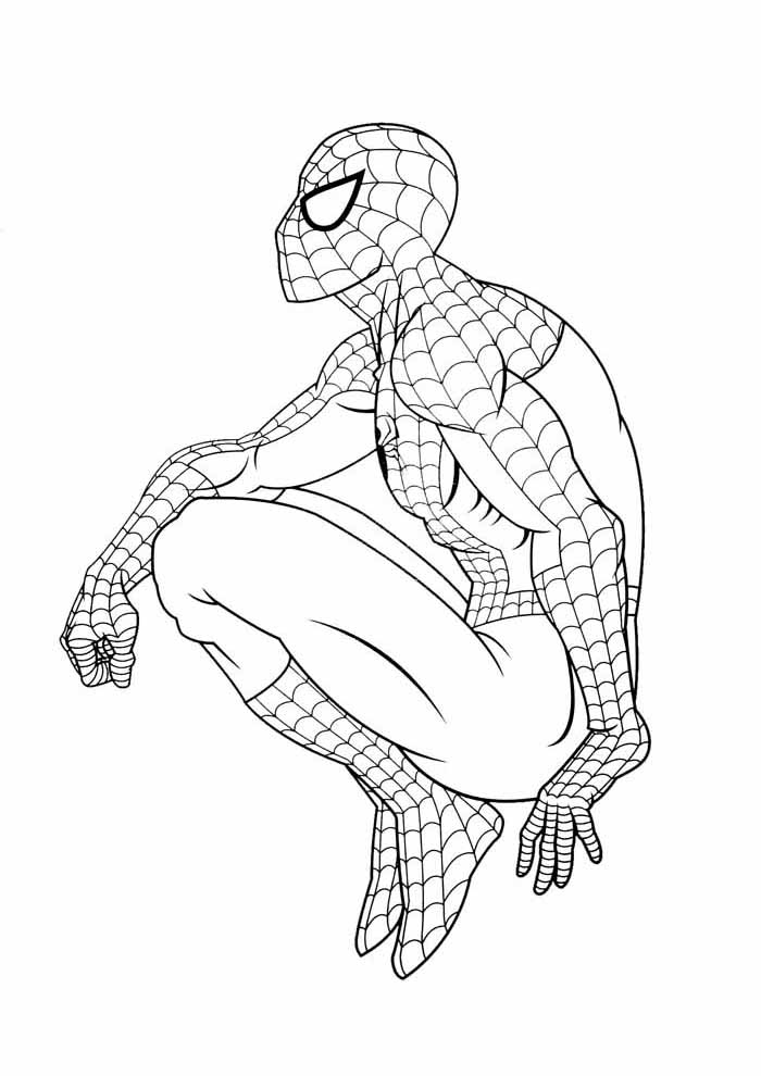 spiderman coloring pages sitting aside