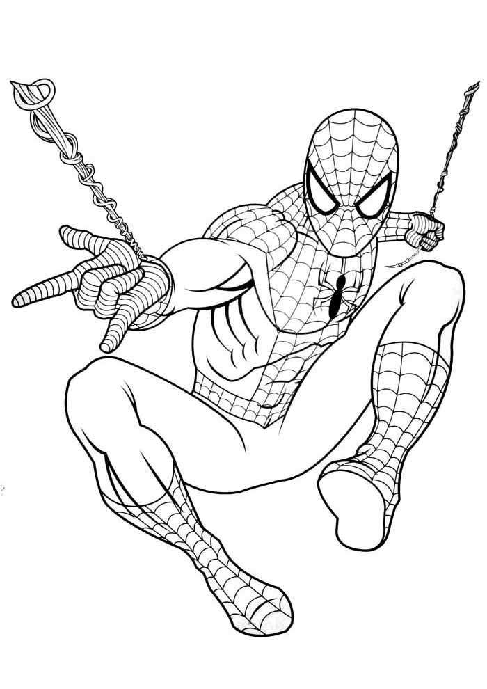 spiderman coloring pages web