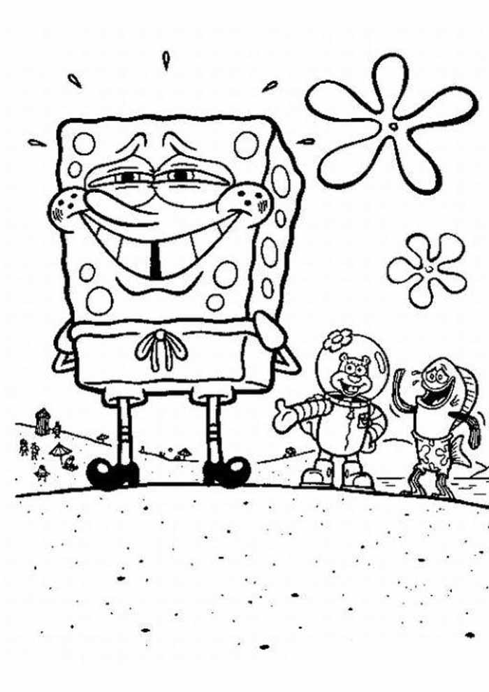 spongebob coloring page 4