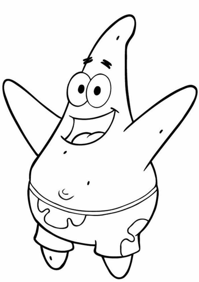 spongebob coloring pages patrick