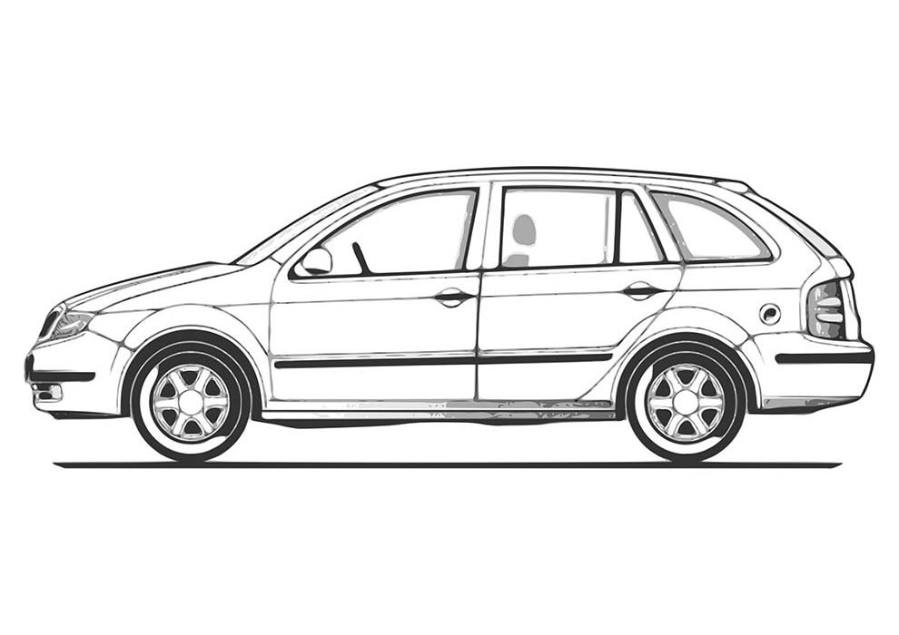 super van coloring page