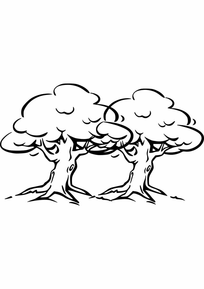tree coloring page double