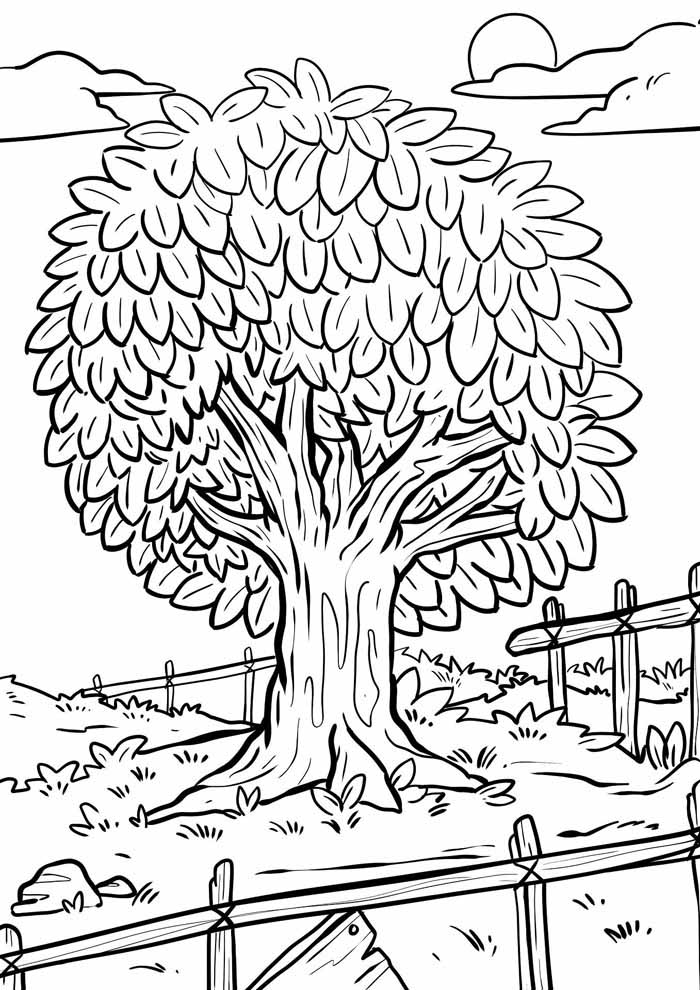 tree coloring page site