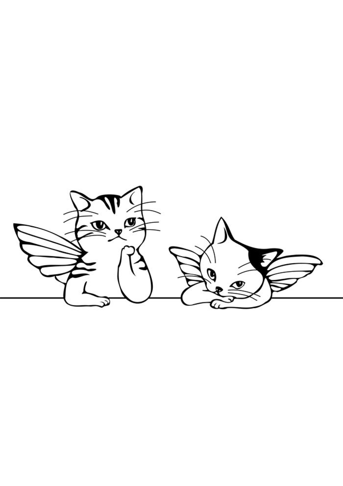 unicorn cat coloring page