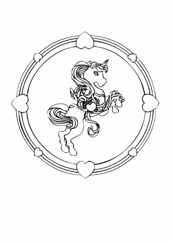 unicorn coloring page 101